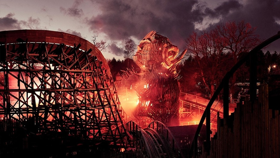 Rising six stories high at 57 feet, the Wicker Man ride has been in production for four years and cost nearly $22 million to construct