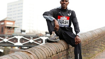 Britain Athletics - Birmingham Indoor Grand Prix Press Conference - Barclaycard Arena, Birmingham - 17/2/17 Great Britain's Mo Farah poses after the press conference Action Images via Reuters / Matthew Childs Livepic EDITORIAL USE ONLY. - 14753104