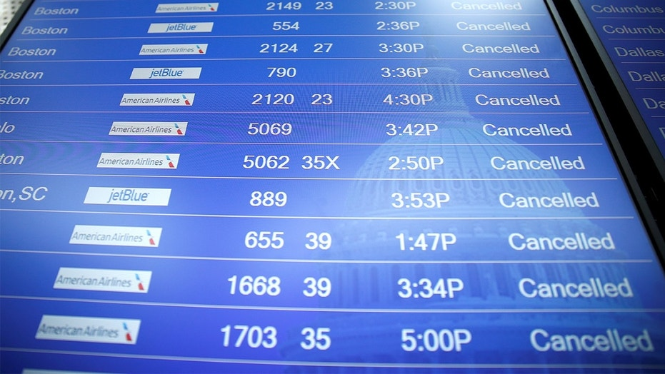 As the Northeast gets hit by another brutal winter storm, hundreds of flights have been delayed or cancelled.
