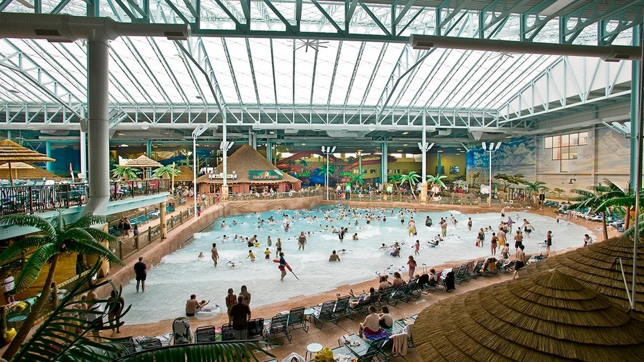 Five people were injured after a large air duct fell from the ceiling at Kalahari Resort water park in Ohio.
