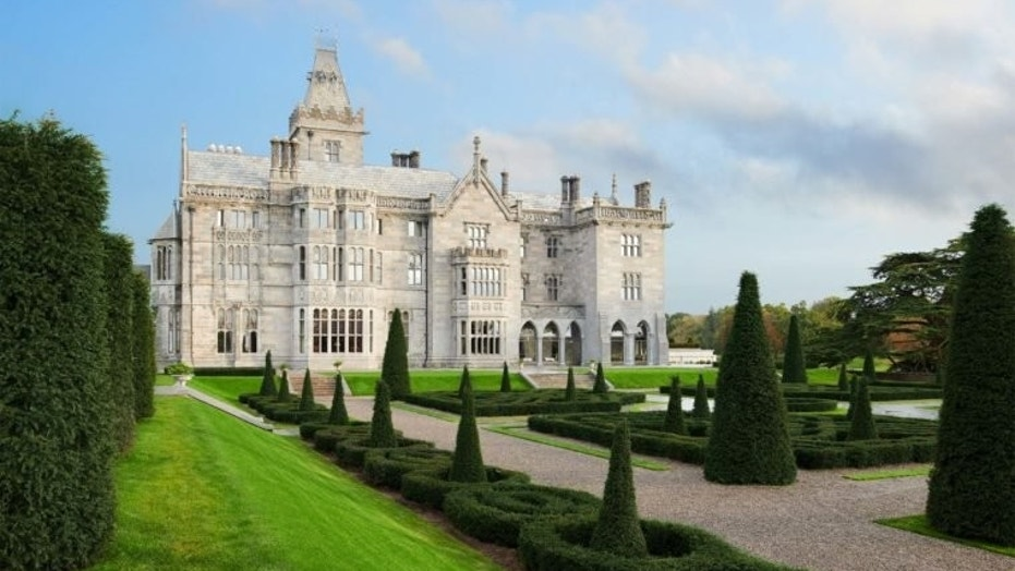 Guests of Adare Manor in County Limerick can practice falconry and archery, horseback ride and fish across its 840 sweeping acres.