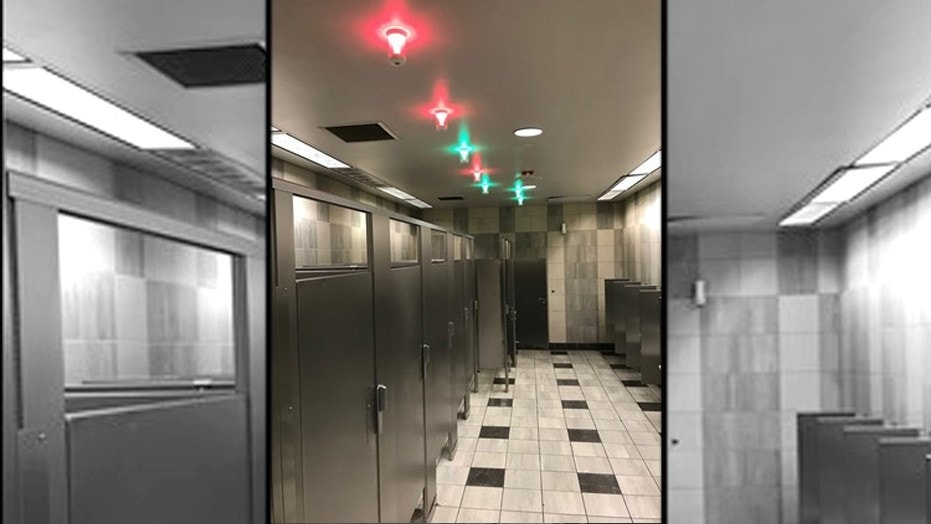 The smart restrooms made their debut at LAX Wednesday.