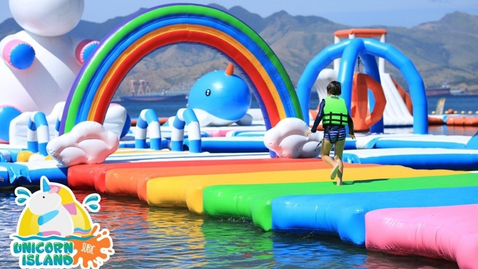 "The massive ""floating playground"" is certainly one of a kind."