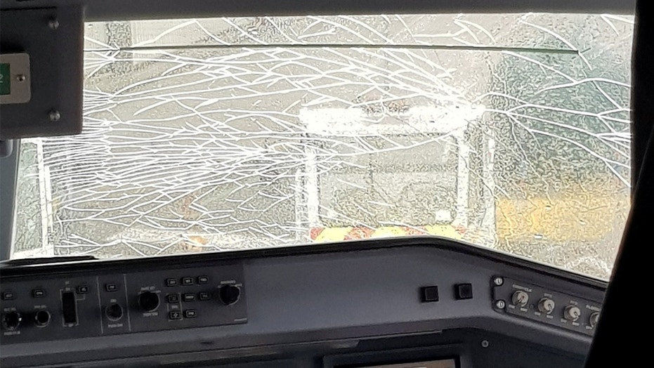 A Flybe plane made an emergency landing shortly after takeoff when the cockpit windshield cracked.