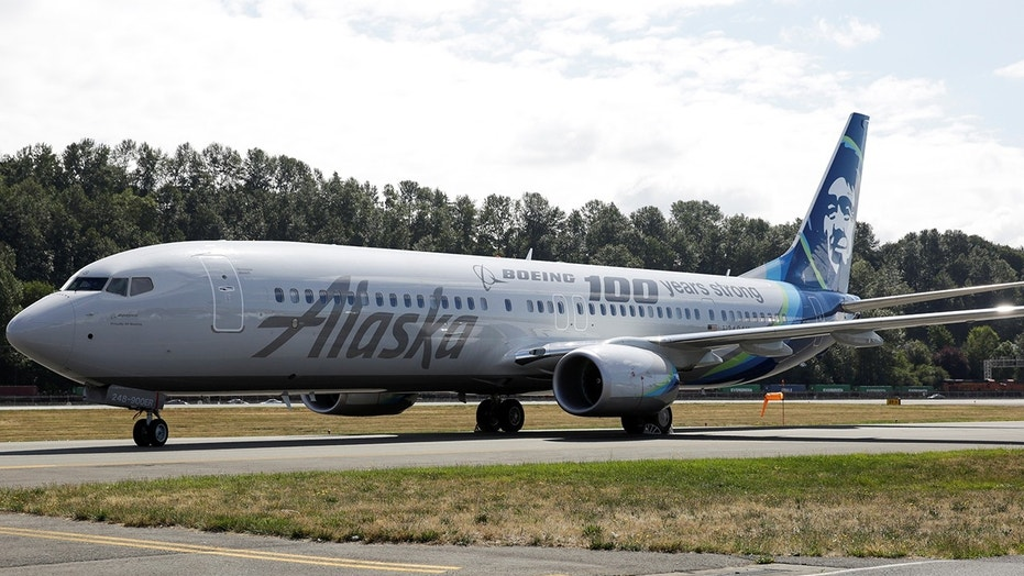 An Alaska Airlines flight reported an emergency after an oil filter bypass light arrived in the middle of the flight.