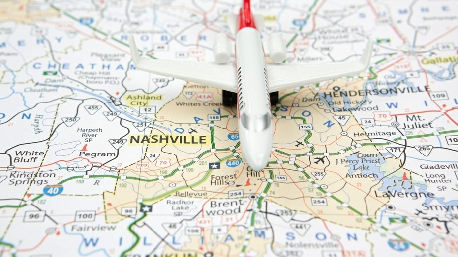 Passengers were treated to a goody bag filled with Nashville staples and live music when they deplaned.