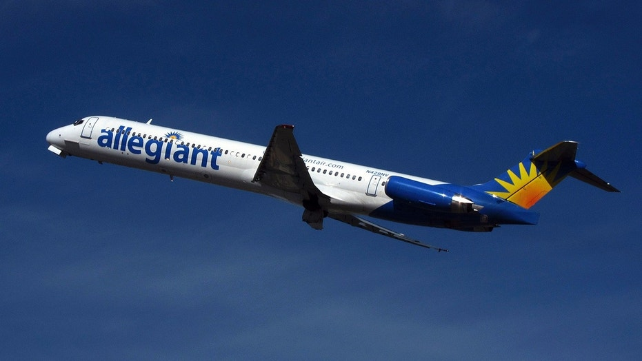 An Allegiant Air flight had to make an emergency landing in Asheville after flight crew detected a strange smell.