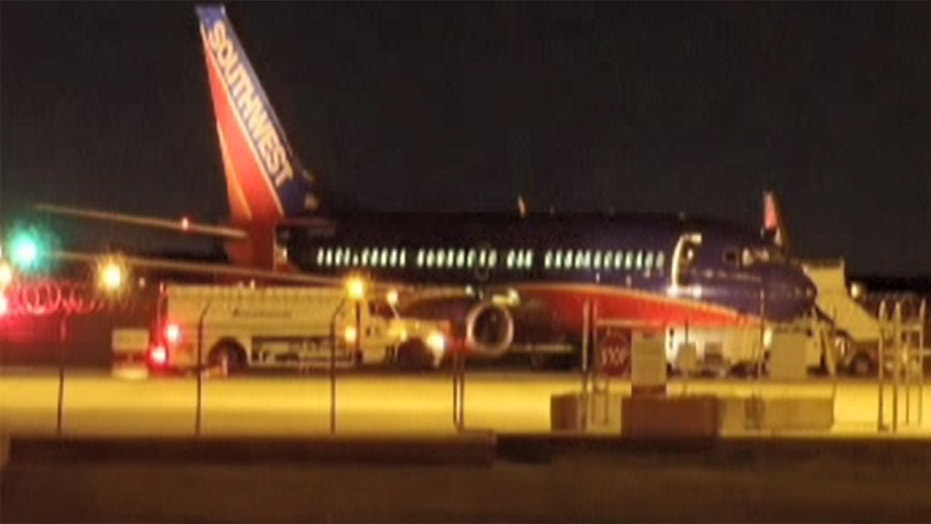 "None of the 103 passengers were injured on the ""uneventful"" landing on Monday night, Southwest confirmed."