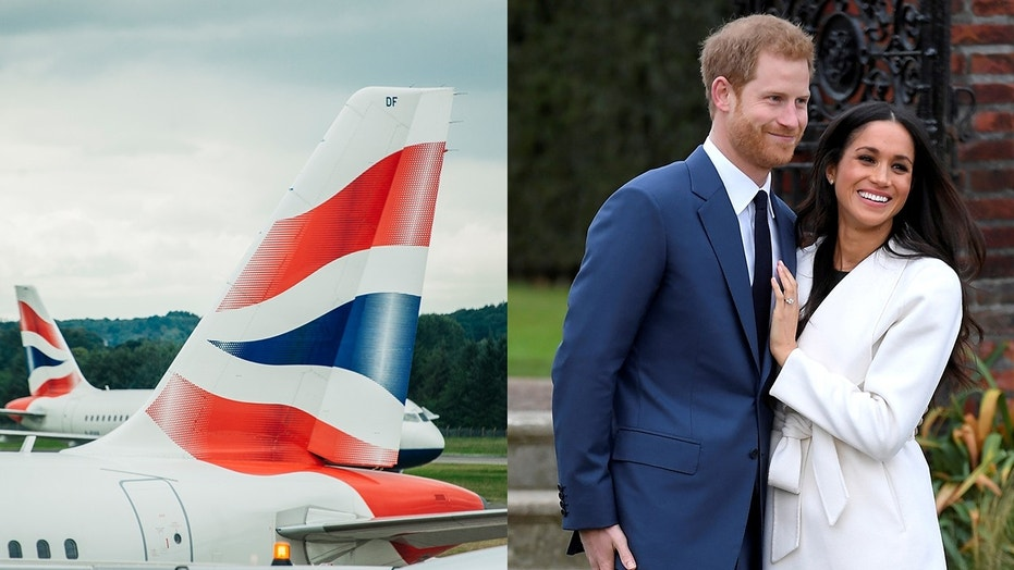 British Airways royal wedding-themed flight has crew all named Harry and Meghan
