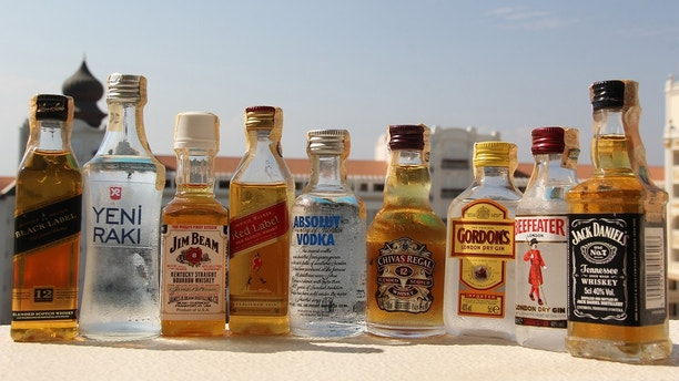 alcohol bottles istock