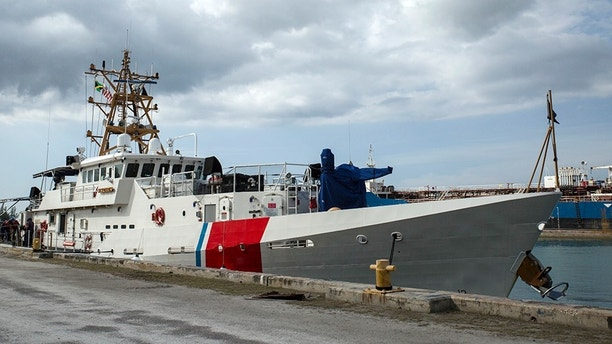 U.S. Coast Guard Cutter Isaac Mayo, arrives at Montego Bay, Jamaica in preparation for Tradewinds 2016 on June 18, 2016. Tradewinds is an opportunity for the participating partner nations to come together to enhance regional maritime security. The maritime portion of the exercise focuses on building participating nation capacity of the Caribbean Community's maritime forces in maritime related security operations in cooperation with U.S., British, Mexican and Canadian Forces. (U.S. Marine Corps photo by Cpl. Justin T. Updegraff/ Released)