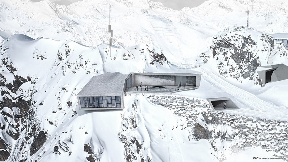 The 007 Elements museum is built inside the summit of the Gaislachkogl Mountain in Sölden.