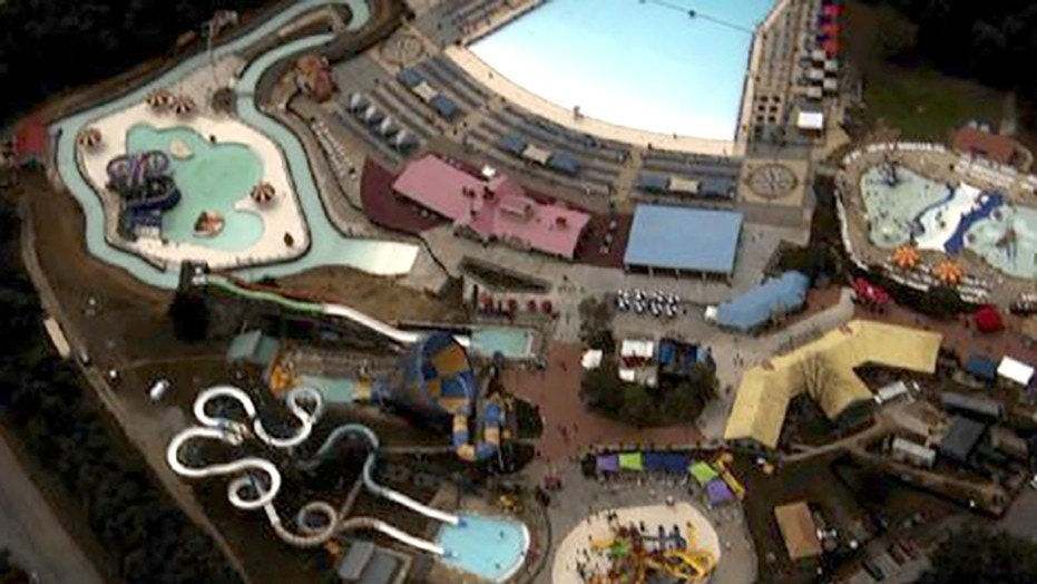 A teen was taken to the hospital after a near-drowning at Six Flags theme park in Maryland.