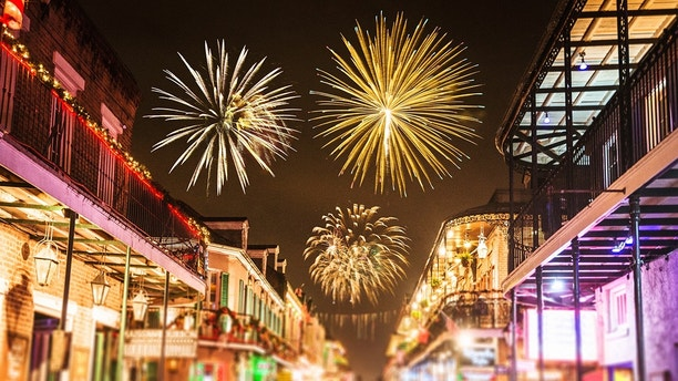 new orleans french quartier for the new year holiday