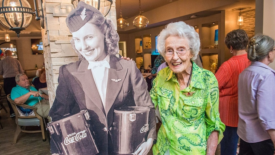 The Georgia centenarian recently celebrated her birthday with a party hosted by the carrier.