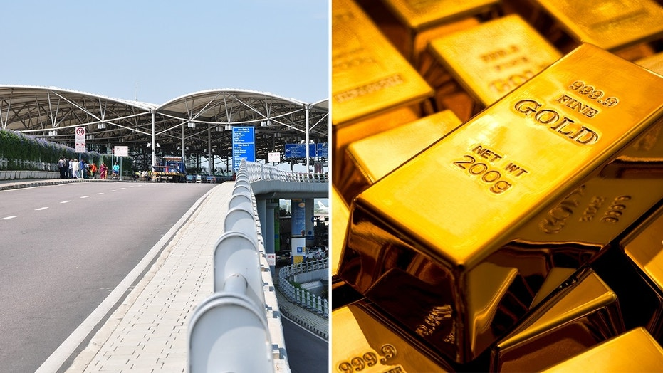 A traveler at India's Hyderabad Airport tried to smuggle gold in the form of paste through airport security.