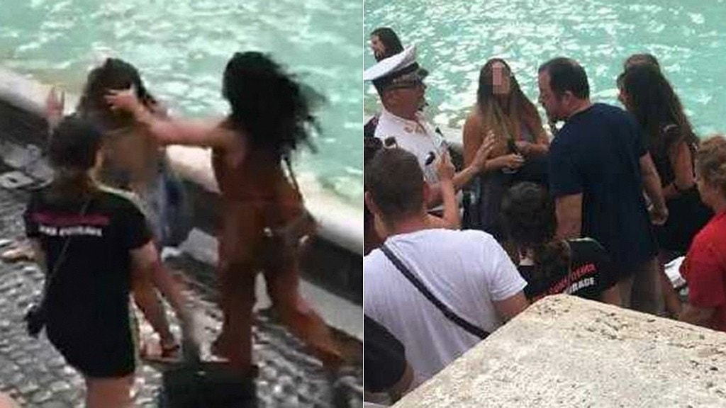8 tourists brawl at Rome's Trevi Fountain over selfie spot