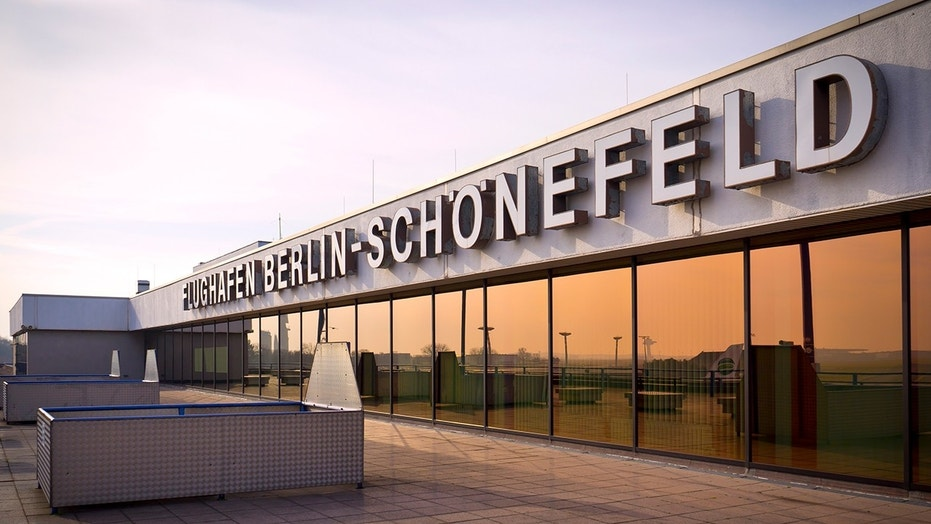 Check-in at a terminal in Berlin's Schonefeld Airport was halted for over an hour while police investigated the luggage.