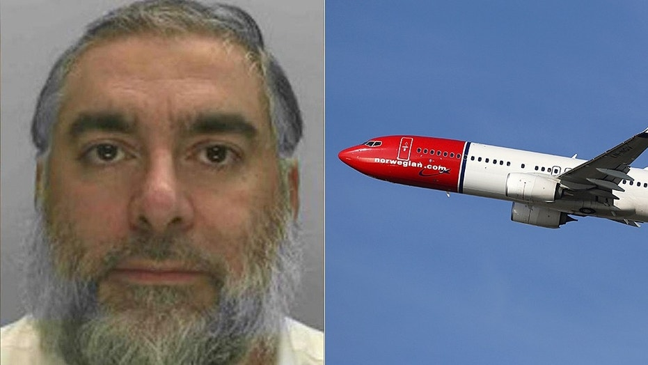 Jacob Meir Abdellak made the false threat eight minutes before his Norwegian Air flight was set to depart on May 11