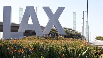 lax airport istock sign