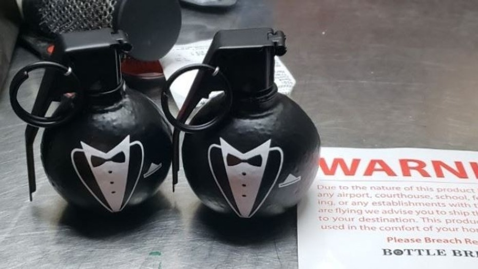 The items, which were intended as gifts for groomsmen, turned out to be bottle openers.