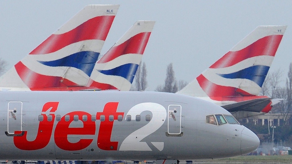 Four Jet2 passengers were checked over by emergency personnel after landing at Leeds airport, Jet2 confirmed.