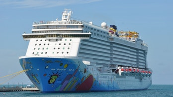 Kings Wharf, Bermuda - September 12, 2013: Norwegian Breakaway Cruise Ship in Bermuda. It is the largest cruise ship homeported year-round from New York City.