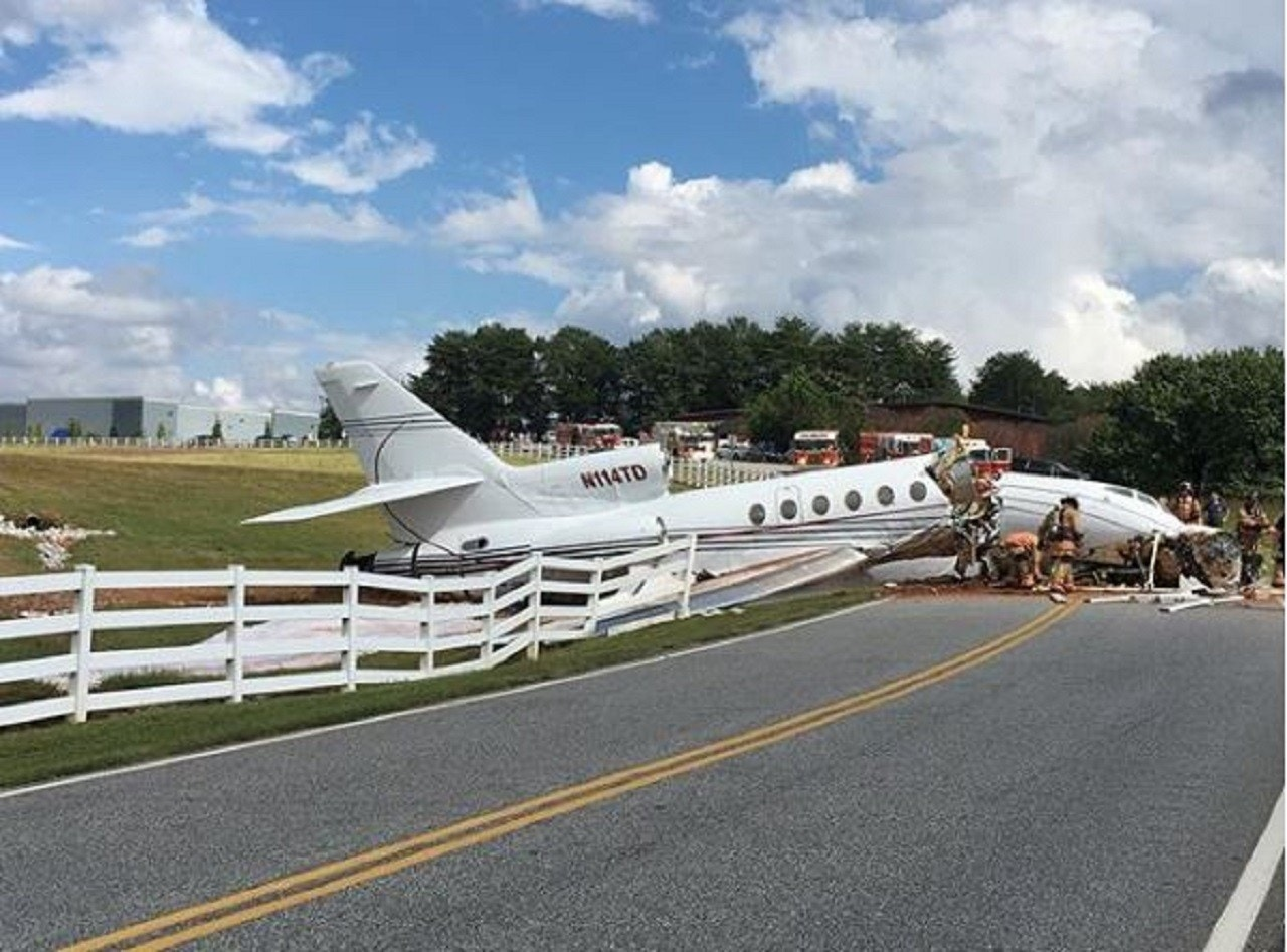 Jet crashes in South Carolina after failing to stop on runway, killing at least 2