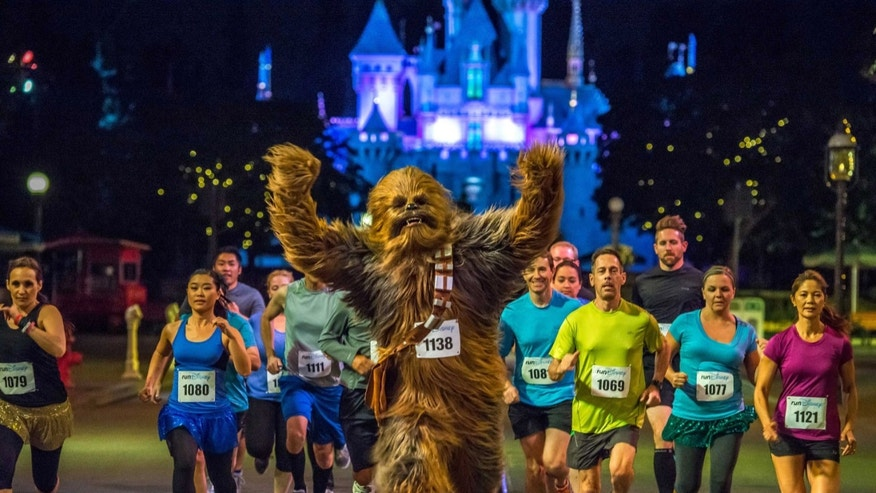 The inaugural Star Wars Half Marathon Weekend presented by Sierra Nevada Corporation enters the universe Jan. 15-18, 2015 at Disneyland Resort in Anaheim, Calif. The four-day race weekend will include kids races, a 5K, a 10K, a half marathon and a two-race challenge, plus Star Wars characters and other popular Disney entertainment elements. Registration opens June 10 at www.runDisney.com (Ali Nasser, photographer).
