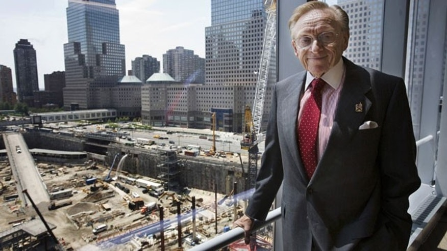 In this file photo of May 23, 2007, World Trade Center developer Larry Silverstein poses for a portrait in his office overlooking the site in New York. Silverstein and government agencies that control the trade center site have reached a deal to resolve a 16-month stalemate over rebuilding at ground zero.