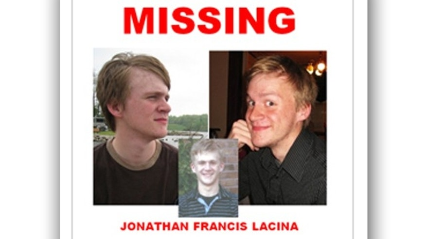 There is no word if the body could be that of Jon Lacina, a student missing since January.