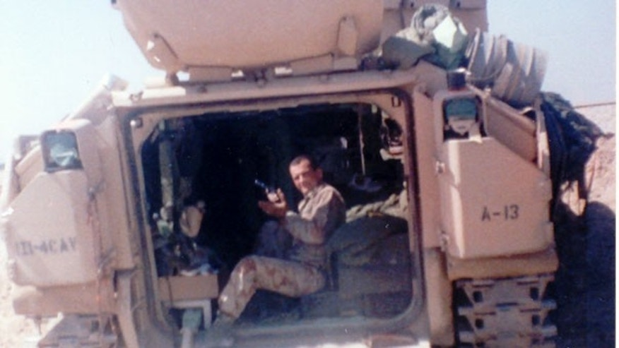 Glenn McBride, pictured during Operation Desert Storm