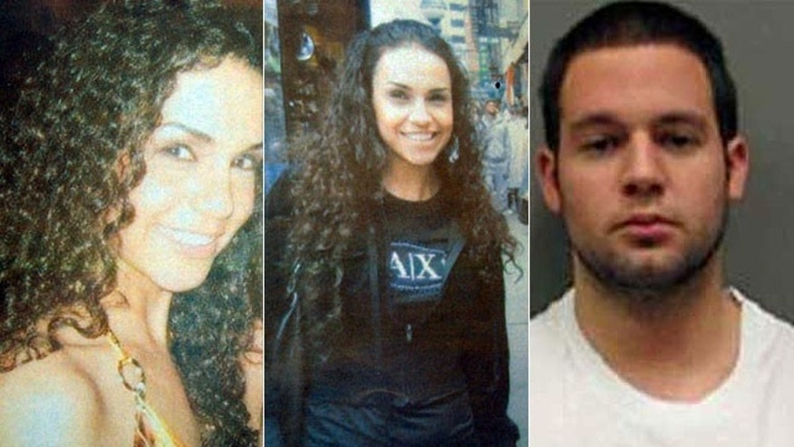 Laura Garza, left and center, was last seen leaving a Manhattan nightclub in 2008 with registered sex offender Michael Mele, right (MyFoxNY.com).