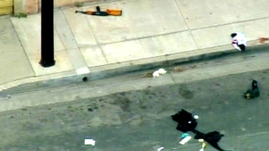 May 6: Investigators say a gunman with an assault rifle and a can of gasoline stormed his ex-girlfriend's Hawaiian Gardens home. (MyFoxLA.com)