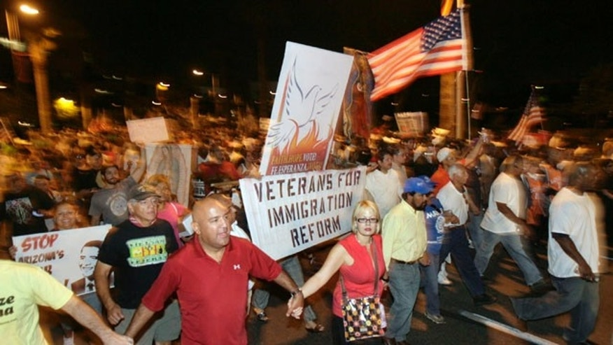 Despite protests, a new Fox News poll finds 61 percent of voters nationally think Arizona was right to take action instead of waiting for the federal government to pass legislation on immigration reform.