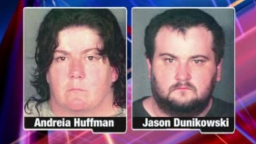 Ohio police say Andreia Huffman and Jason Dunikowski are responsible for one of the worst cases of child abuse they have ever seen.