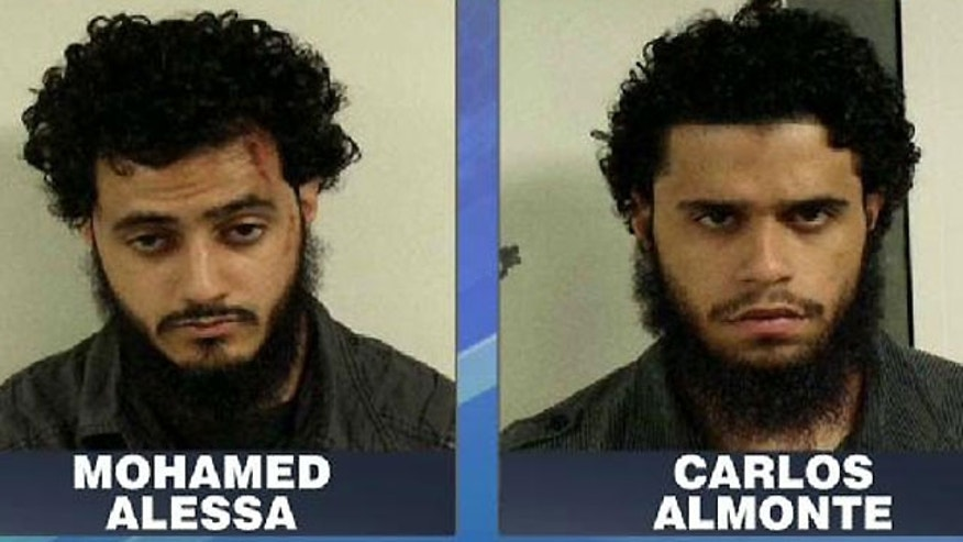 "Mug shots of New Jersey terror suspects Mohamed Alessa, 20, and Carlos ""Omar"" Almonte, 24."