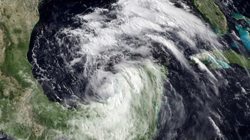 June 28: Tropical Storm Alex is seen churning in the southeastern Gulf of Mexico.