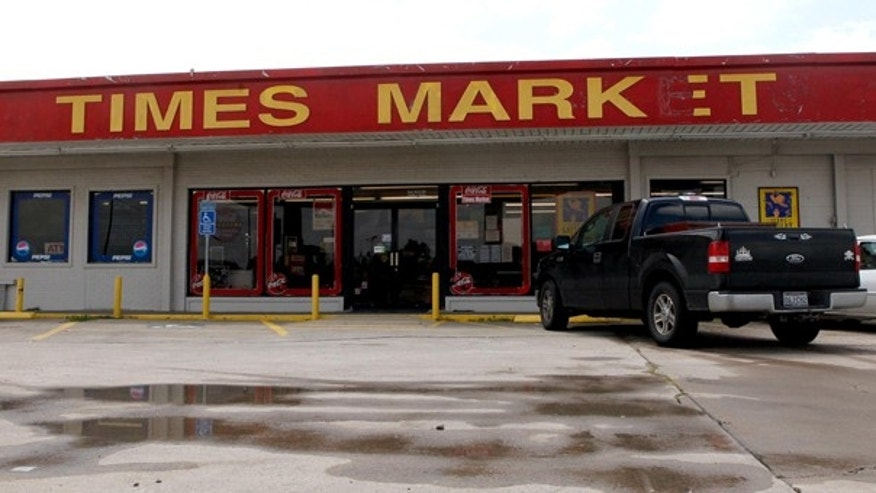 July 9: The Times Market in Bishop, Texas, where Joan Ginther, who now lives in Las Vegas, won $10 million last month on a $50 scratch-off ticket. She won four Texas Lottery jackpots for a combined $21 million, and the last two winning tickets were purchased at the Times Market store.