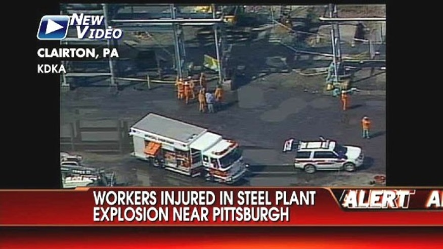 July 14: Aerial video shows a still-smoldering explosion at the Clairton Coke Works in Pennsylvania, where 15 steel workers were injured in a blast Wednesday morning.