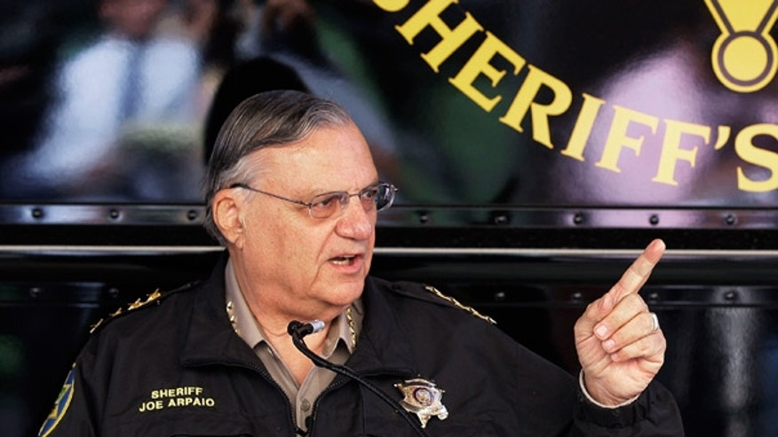 April 29: Maricopa County Sheriff Joe Arpaio holds a news conference in Phoenix.
