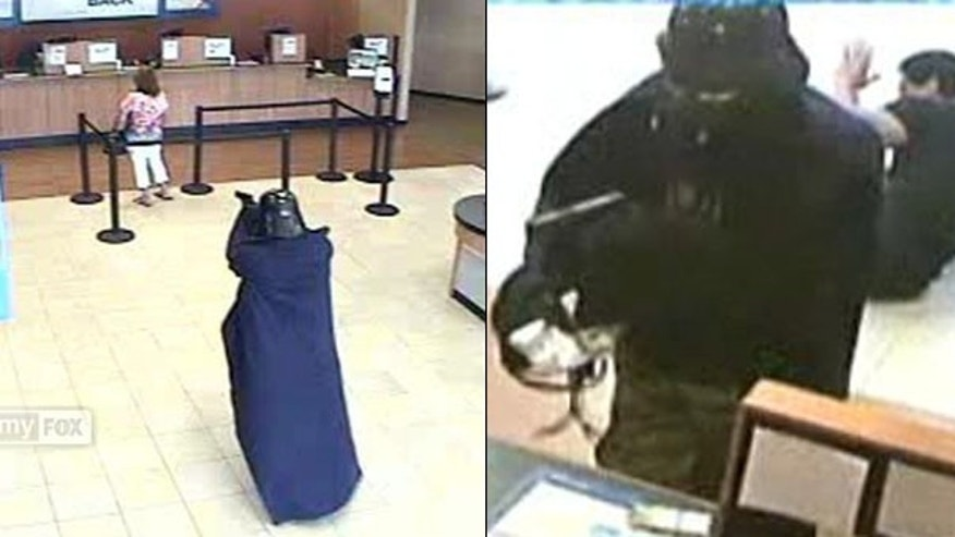 July 22: Security footage shows a bank robber dressed as Darth Vader -- wielding a semiautomatic hand gun in place of his usual lightsaber -- knocking off a Chase branch in Setauket, N.Y.