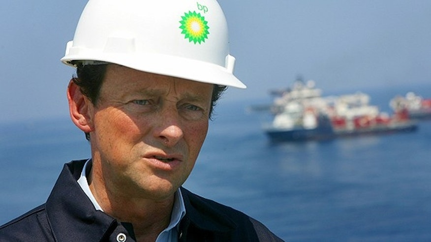 May 28: BP CEO Tony Hayward speaks during recovery operations at the Deepwater Horizon oil spill site in the Gulf.