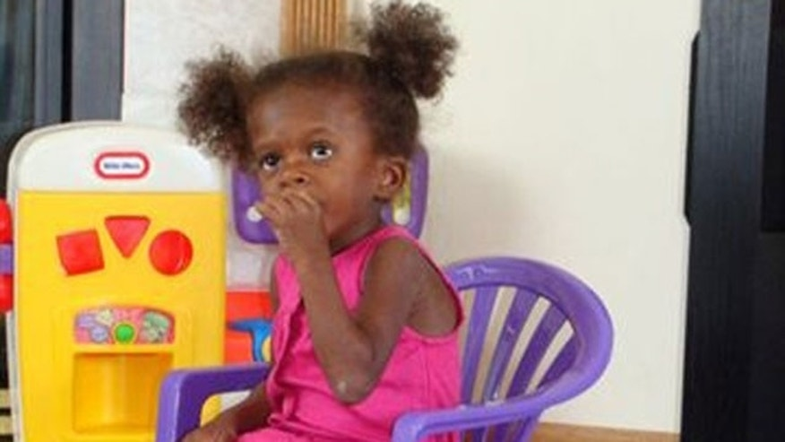 Rose Nacheca, a 3-year-old orphan from Haiti, is now living in Minnesota on an extended visa.