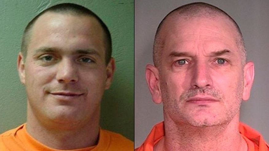 U.S. Marshals arrested Tracy Province, left, in Wyoming more than a week after he escaped from an Arizona prison with John McCluskey, right, and another inmate. McCluskey and an alleged accomplice remain at large.