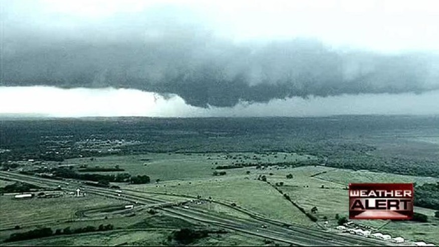 Sept. 8, 2010: A series of tornadoes spawned by the remnants of Tropical Storm Hermine are menacing the Dallas area but there are no immediate reports of damage.