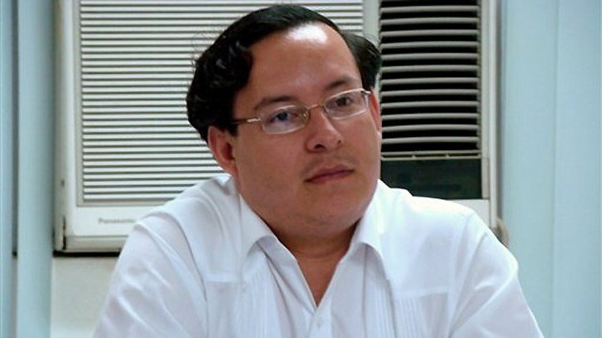 May 28, 2009: Nicaraguan diplomat Cesar Mercado, attends a meeting in Managua, Nicaragua.  Mercado, 34, the acting consul general at the Nicaraguan consulate, was found dead Thursday Sept. 23, 2010 with his throat slashed in his apartment and a knife by his side, hours before he was to attend the United Nations General Assembly's annual meeting, officials said. (AP Photo/Nicaraguan Vice President Office, Guillermo Hernandez)