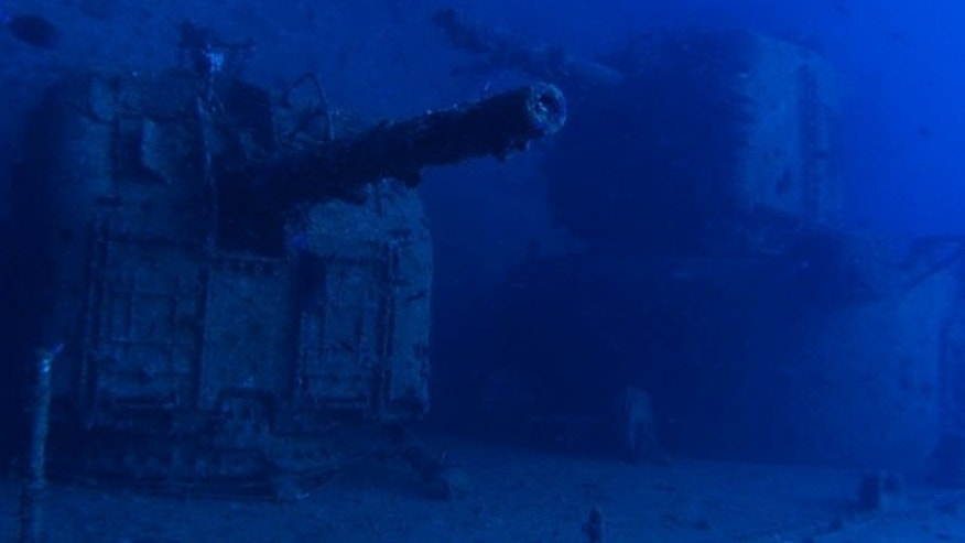 The USS Emmons was vandalized as it sat on the sea floor