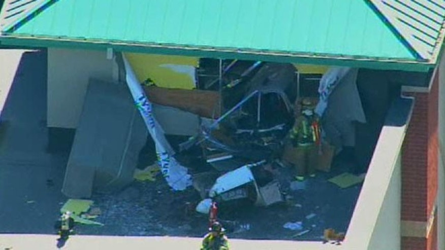 Oct. 6: The FAA says a small plane has crashed into the roof of a Chicago fitness center.