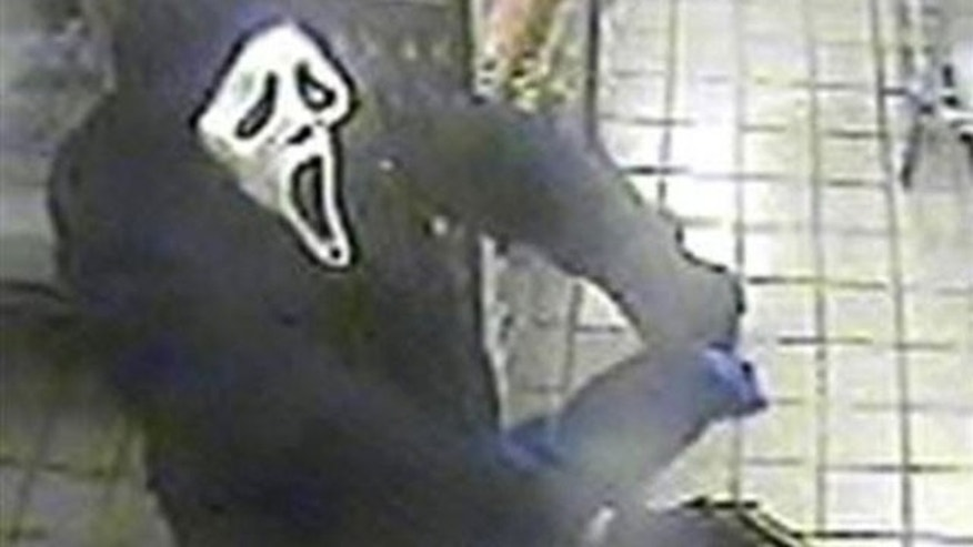 """Scream"" mask-wearing bandit attempts NY robbery"